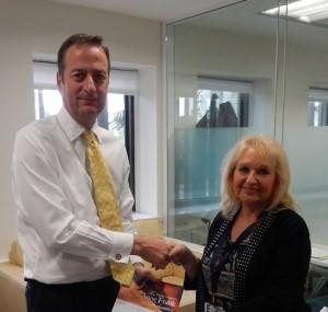 With His Excellency David Quarrey, British Ambassador to Israel
