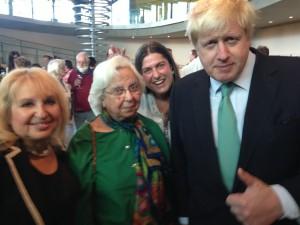 With London Mayor Boris Johnson