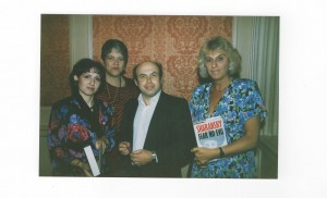 With Natan Sharansky after his release from a Soviet labour camp