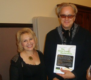 With actor Tim Robbins