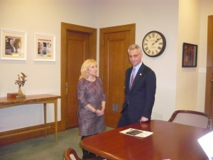 With Chicago Mayor Rahm Emanuel