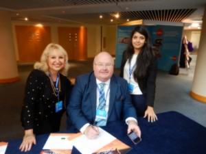 With Communities Secretary Sir Eric Pickles