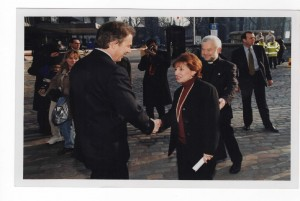 Meeting Tony Blair, former Prime Minister