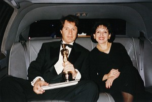 With Jon Blair in Hollywood and the Oscar for Anne Frank Remembered