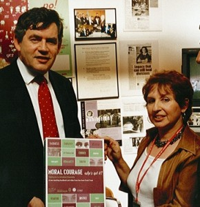 With former Prime Minister Gordon Brown