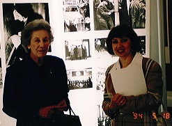 With Dame Helen Suzman opening the Anne Frank exhibition together in Port Elizabeth