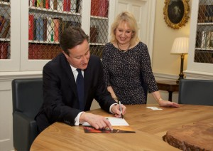 With Prime Minister David Cameron