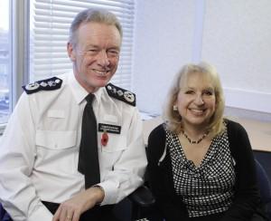 With Metropolitan Police Commissioner Sir Bernard Hogan-Howe