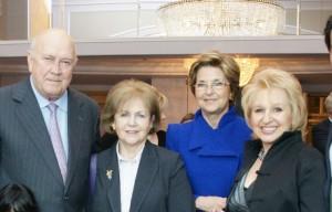 With President and Mrs F W De Klerk