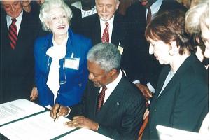 With Kofi Annan